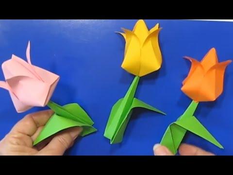 Как сделать тюльпан из бумаги? Учимся легко и быстро делать тюльпаны 54