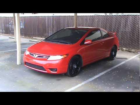 2010 Honda Civic Si >> 2008 Honda Civic Si with Drag DR-34 Rims - YouTube