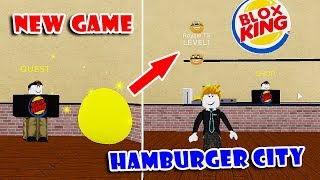 *FREE* EATING BURGER In NEW GAME || Hamburger City Simulator!! [Roblox]