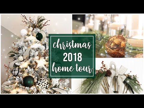 Christmas 2018 Home Decor Tour | Farmhouse Glam | 12 ish Days of Christmas (day 3)