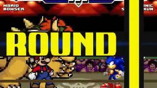 Mario & Bowser vs Sonic & Sasuke MUGEN Battle!!!