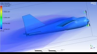ANSYS CFX - CFD of an airplane in a wind tunnel