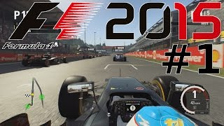 Lets Play F1 2015 German / Deutsch Part 1 - Das 1. Rennen im Mclaren Honda (SPA) - 60FPS HD Gameplay