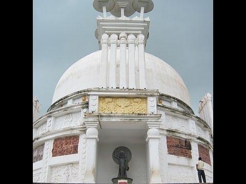 Dhauligiri Buddhist temple on dhauli hills in Orissa