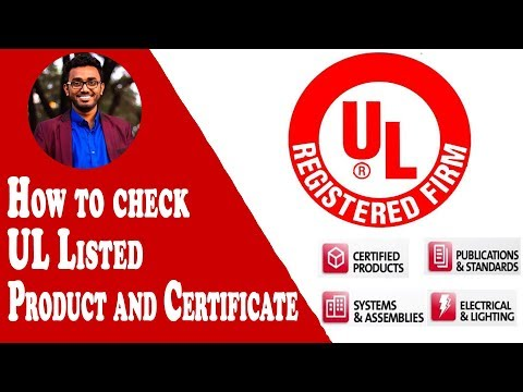 How To Check UL Listed Products And Certificate |  Find Ul Products Certified | UL Listed