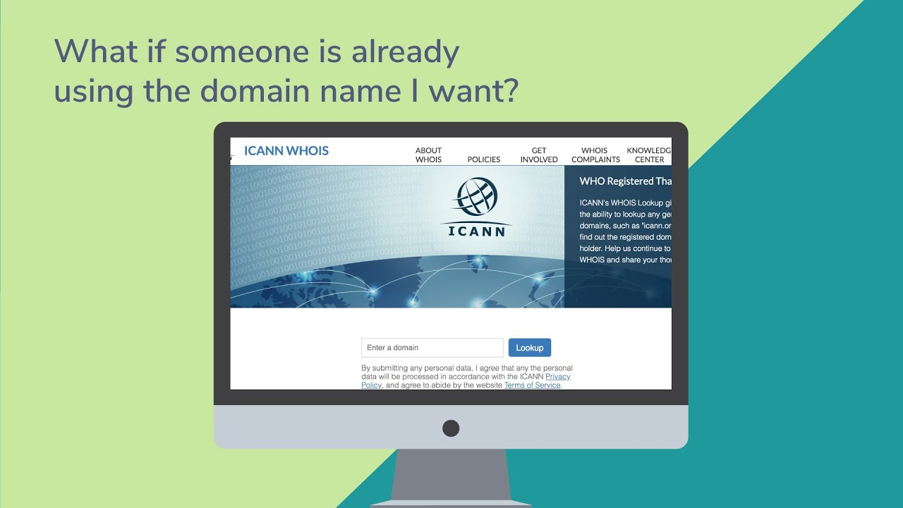 What if someone is already using the domain name I want