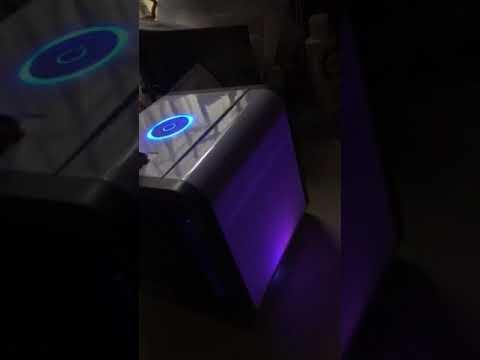 d39818126 Mini ar condicionado ventilador portatil com lampada colorida Branco -  Gearbest