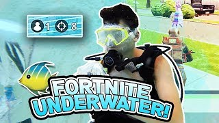 I Won a Game of FORTNITE UNDERWATER!! **SCUBA DIVING**