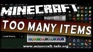 Minecraft Mod Review   Too Many Items   Showcase 1.8.6