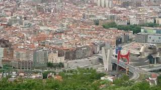 スペイン ビルバオ市の眺望