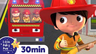 FIRE TRUCK Song! +More Nursery Rhymes and Kids Songs - ABCs and 123s | Learn with Little Baby Bum