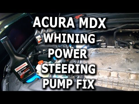 Acura MDX Whining Power Steering Pump fix DIY