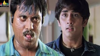 Nuvvostanante Nenoddantana Movie Scenes | Siddartha and Sunil Comedy Back to Back | Sri Balaji Video