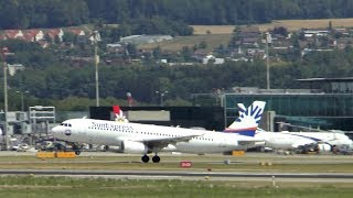 SunExpress Airbus A320 takeoff at Zurich Airport