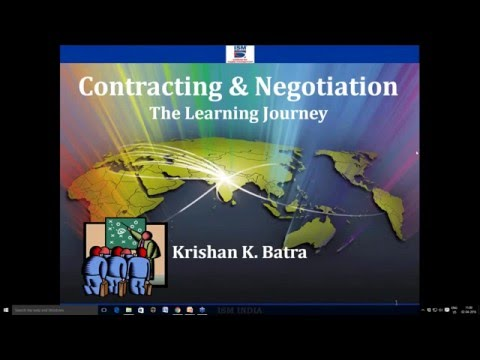 Webinar on Contracting Negotiation