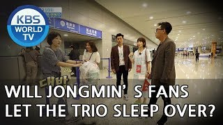 Will Jongmin's fans let the trio sleep over? [One Night Sleepover Trip/ 2018.06.19]