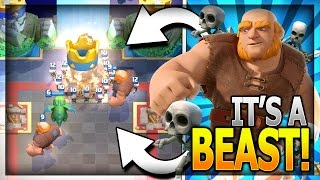 beast mode best giant graveyard deck legendary arena 11 in clash royale