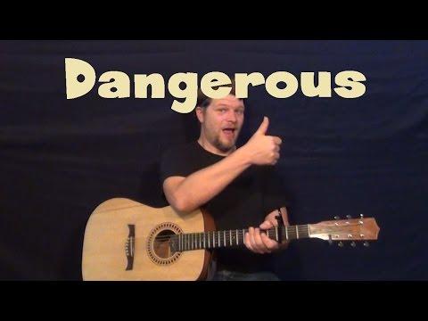 Dangerous David Guetta Easy Guitar Lesson How to Play Tutorial