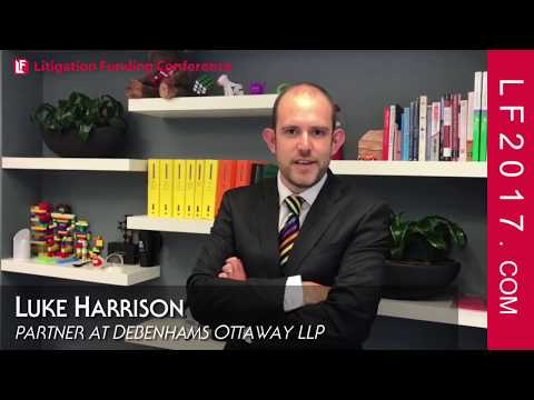 Luke Harrison, Partner at Debenhams Ottaway on Solicitor Perspectives with Litigation Funding LF2017