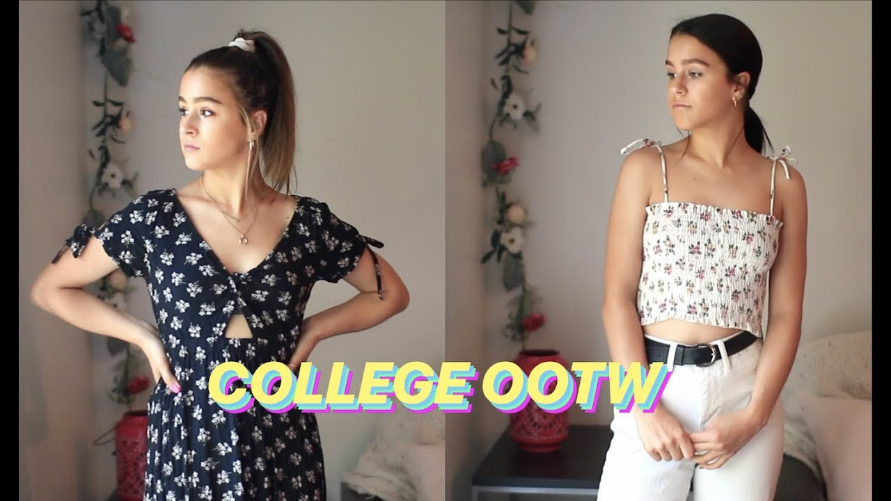 COLLEGE OOTW #32 – Spring Outfits | Pardy Twins