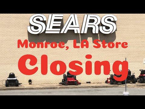 Sears Closing Monroe, LA at Pecanland Mall with warehouse