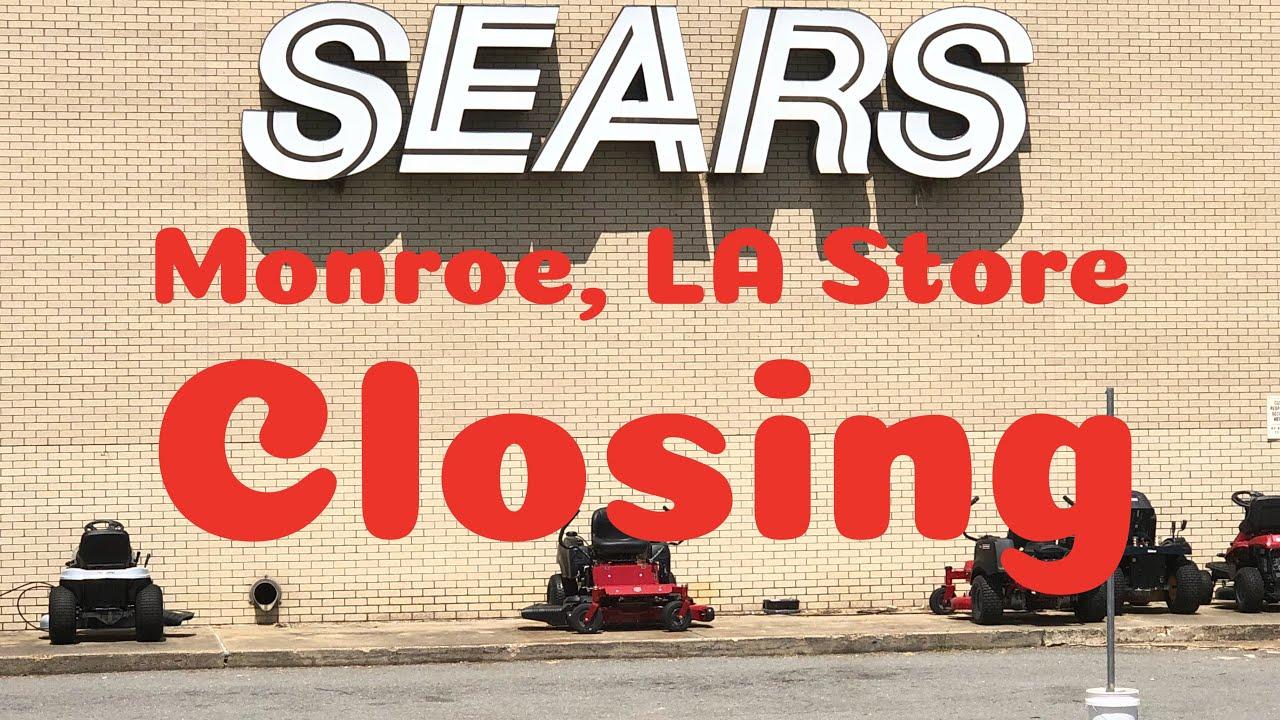 Sears Closing Monroe, LA at Pecanland Mall with warehouse access