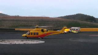 Elicottero 118 Trento in Partenza