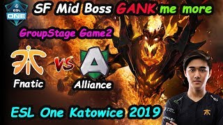 Fnatic Abed - [ShadowFiend] Raid Boss MID vs Alliance ESL One Katowice 2019   Dota 2 Game2