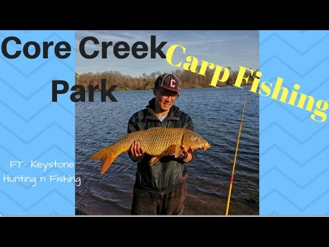 Carp Fishing at Core Creek Park, Langhorne, PA (feat Keystone hunting n fishing)