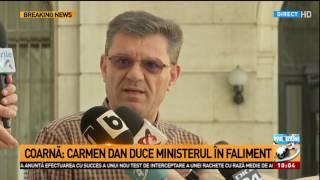 Dumitru Coarnă răspuns pentru minsitrul de interne Carmen Dan Doamna ministru este în pragul fa