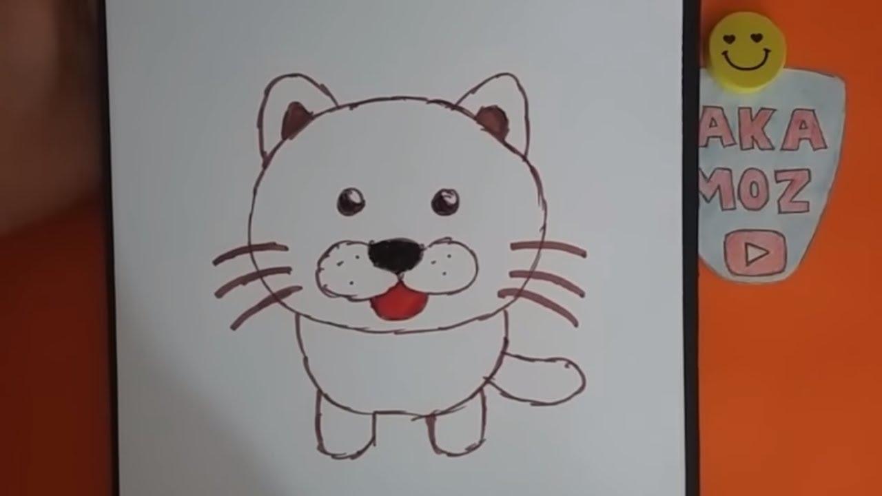 çok Kolay Kedi çizimi Kolay Hayvan çizimi Youtube