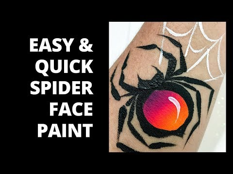 Easy Spider Face Paint How To Face Paint A Spider Face