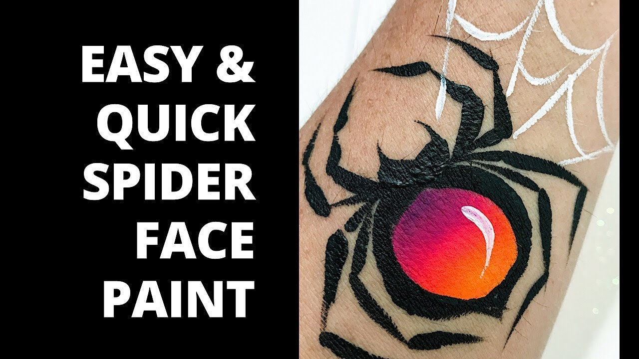 How To Face Paint A Spider Easy And Quick Youtube