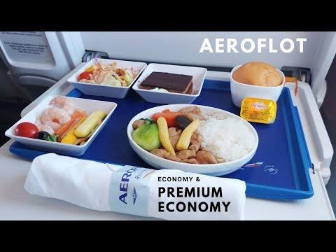 Aeroflot Food! Premium Economy and Economy Class Review.
