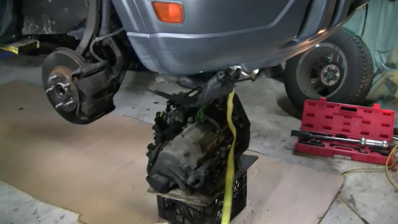 Honda Crv Transmission Removal 1999 Youtube Parts Route 22