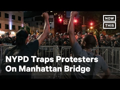 NYPD Traps Protesters on Manhattan Bridge for Hours | NowThis