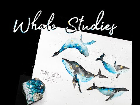 WHALE STUDIES // Watercolor Speedpainting