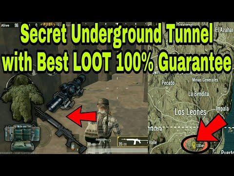 PUBG Mobile - Found a Hidden Underground Tunnel in Miramar and got max LOOT