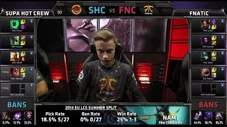 Video SUPA HOT CREW vs Fnatic | S4 EU LCS Summer 2014 Week 3 Day 1 | SHC vs FNC W3D1 G3 download MP3, 3GP, MP4, WEBM, AVI, FLV Oktober 2018