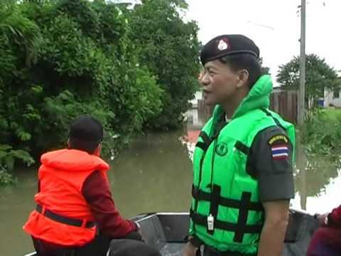 วีดีโอ ผกก ตชด 22 ตรวจเยี่ยมน้ำท่วม อ นาเยีย