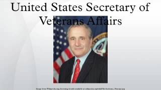 United States Secretary of Veterans Affairs