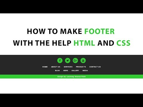 How To Make Footer With The Help Html And Css Use To Font Awesome