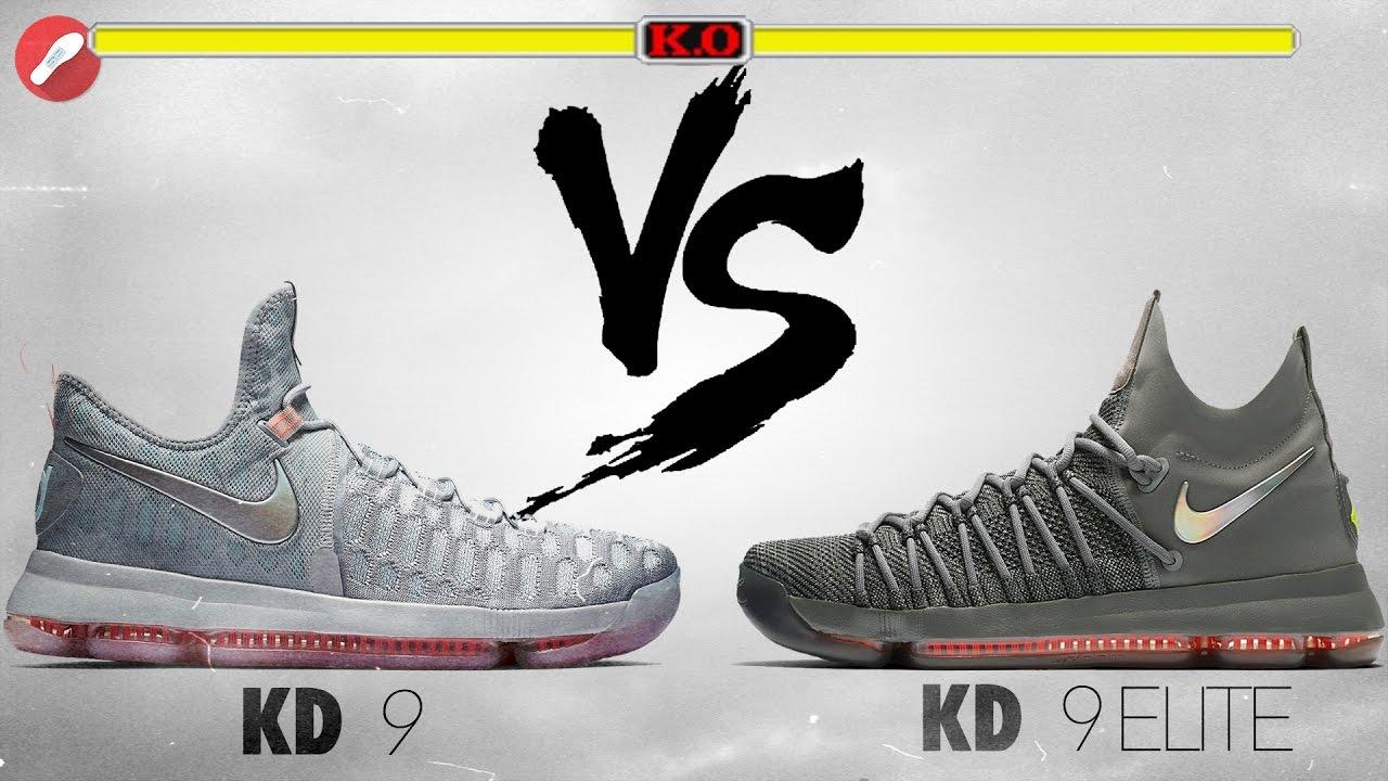 8034b0c455d3 Nike Kd 9 vs Kd 9 Elite! - YouTube