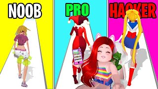วิ่งเปลี่ยนโฉม | NOOB vs PRO vs HACKER In Makeover Run @CKKID