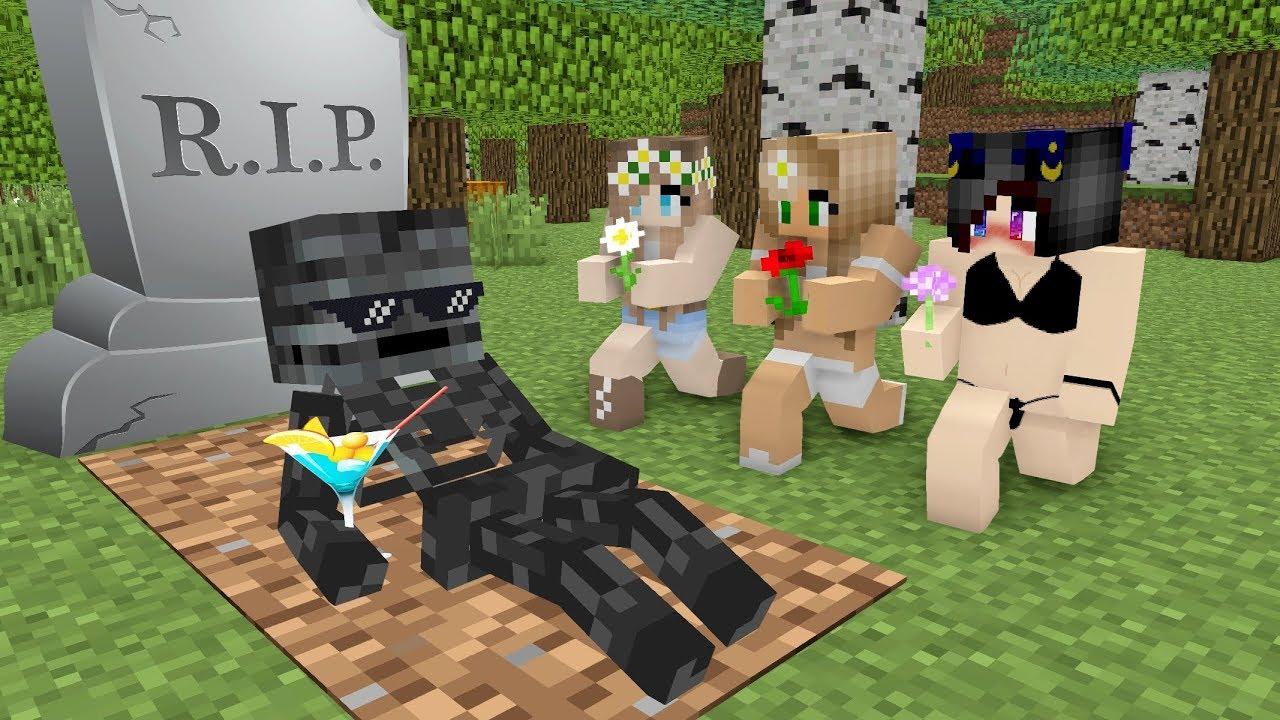 Monster School : RIP WITHER SKELETON HEROBRINE - Minecraft Funny Animation