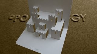 Pop Up Castle Card Tutorial - Origamic Architecture