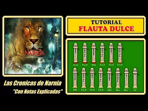 Narnia - Lullaby | Recorder Notes Tutorial