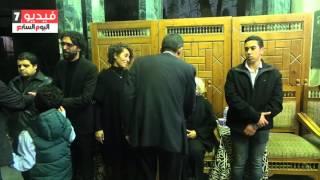أبو الغار وقلاش ورشوان وخالد داود بعزاء الراحل علاء الديب