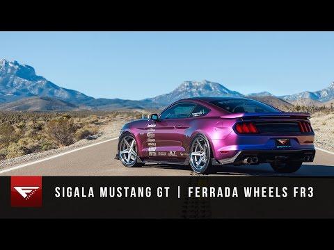 2015 Mustang GT   Ferrada Wheels FR3 in Machine Silver  