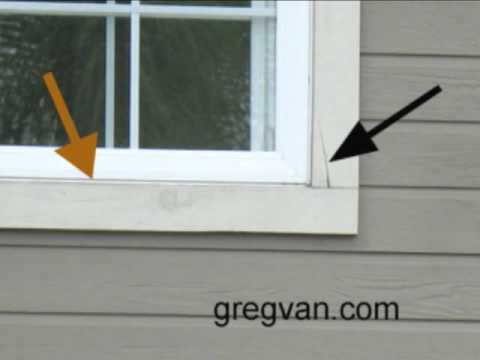 possible water damage crack in wood siding trim youtube. Black Bedroom Furniture Sets. Home Design Ideas